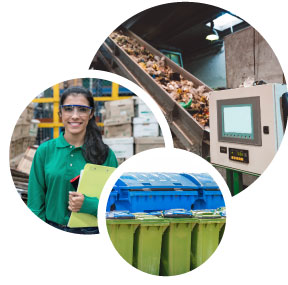 waste recycling services in England
